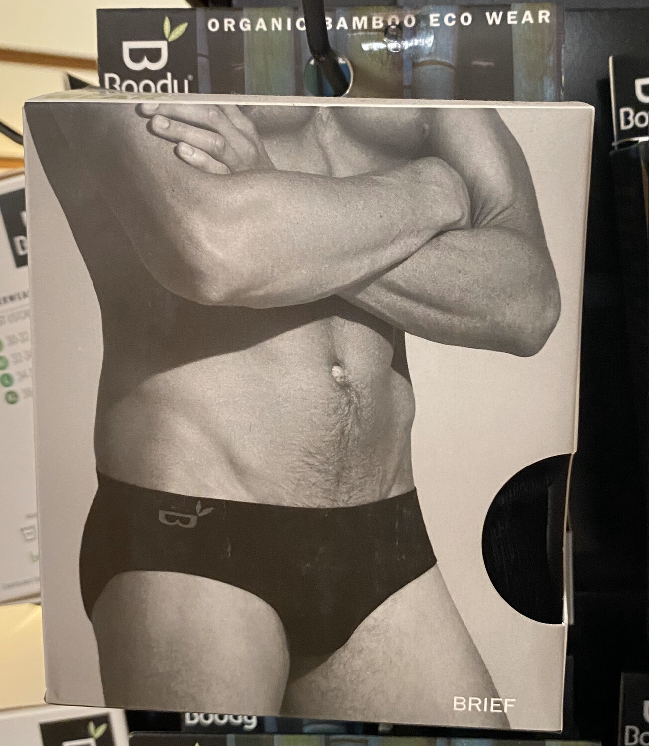 Men's Black Bamboo Booty Wear Classic Brief Tap For Sizes