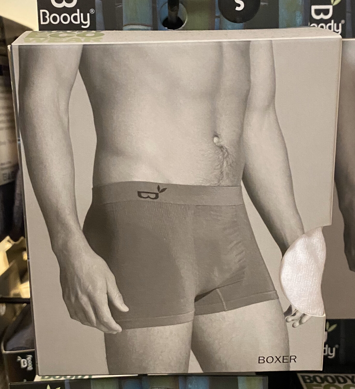 Men's White Bamboo Boxer Booty Wear Tap For Size