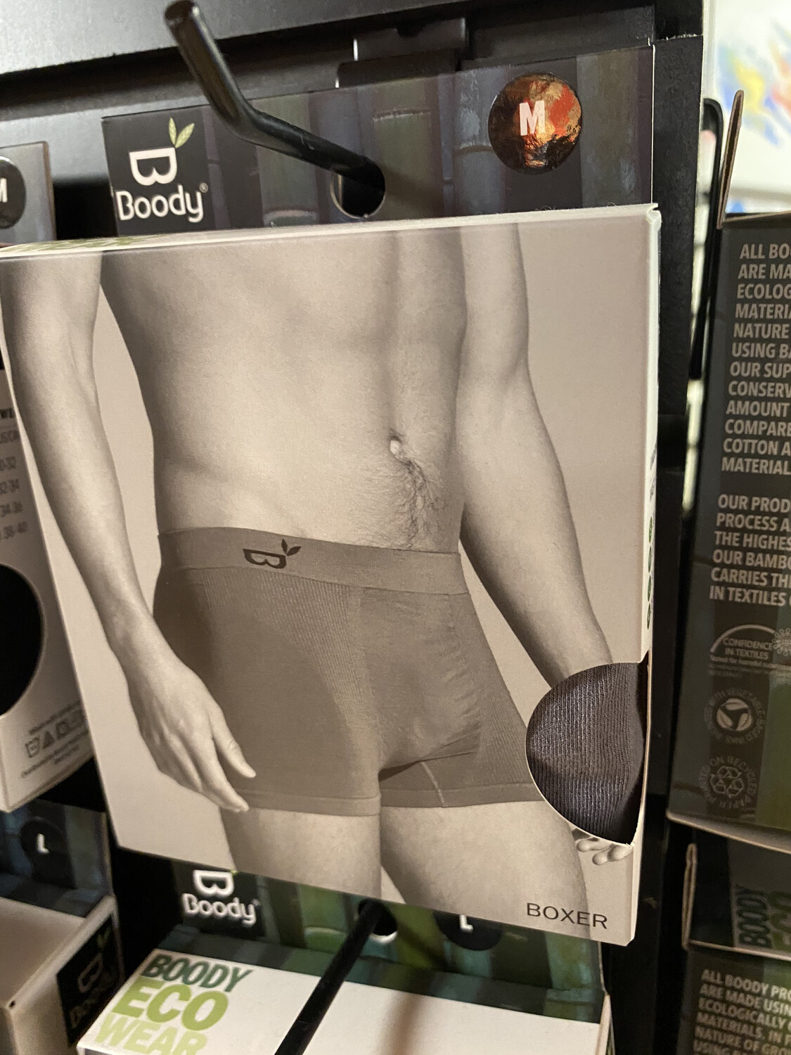 Men's Bamboo Gray Boxer Booty Wear Tap For Sizes