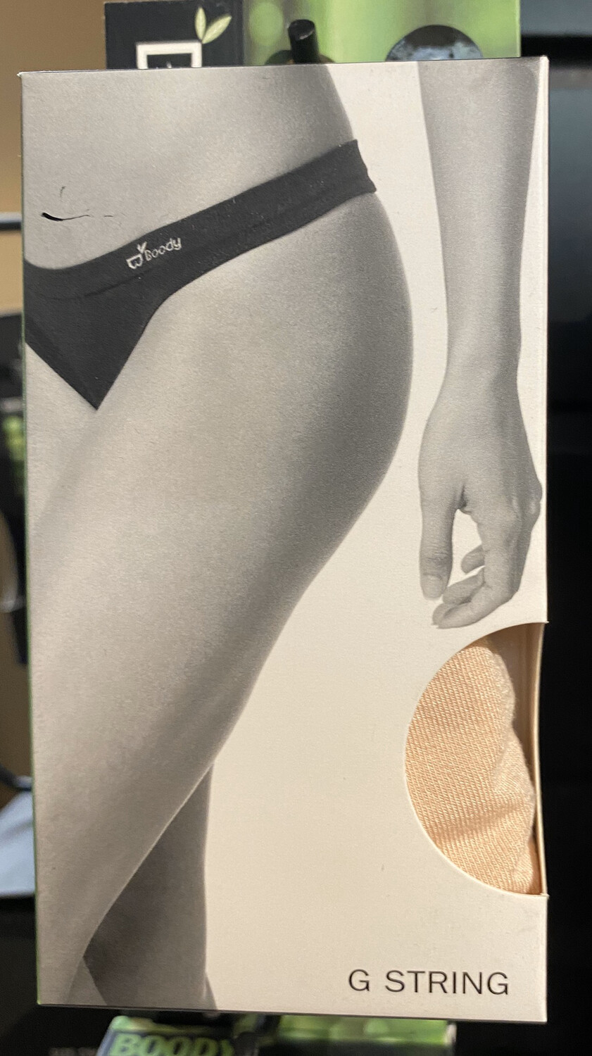 Woman's Bamboo Beige Nude G string Tap For Sizes