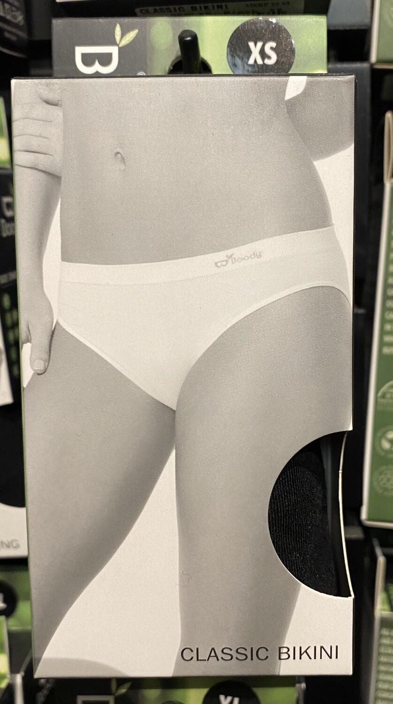 Woman's Bamboo Black Classic Bikini Tap For Size