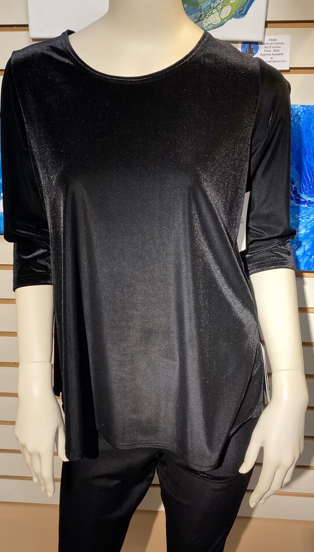Major Deal! Sympli Savvy Go To T 3/4 Sleeve Black Velvet. The Perfect Classic T.