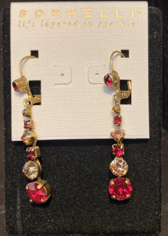Sorrelli Red Crystal Drop Earrings