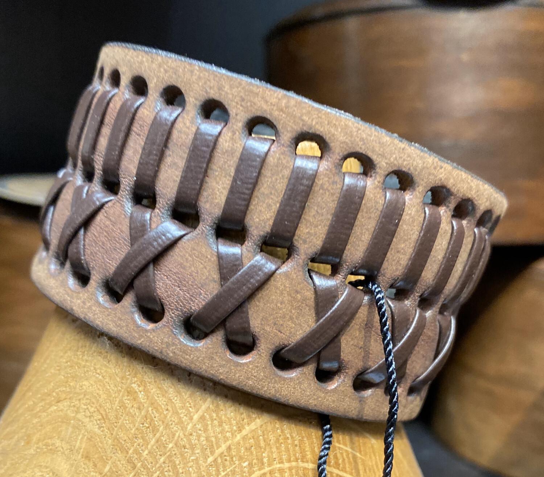 Men's Tan And Brown Woven Bracelet