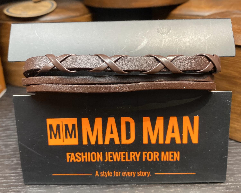 Men's Brown Woven Bracelet
