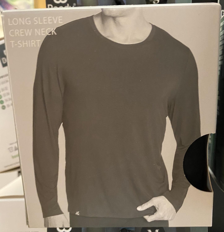 Men's Bamboo Black Long Sleeve T Tap For Sizes