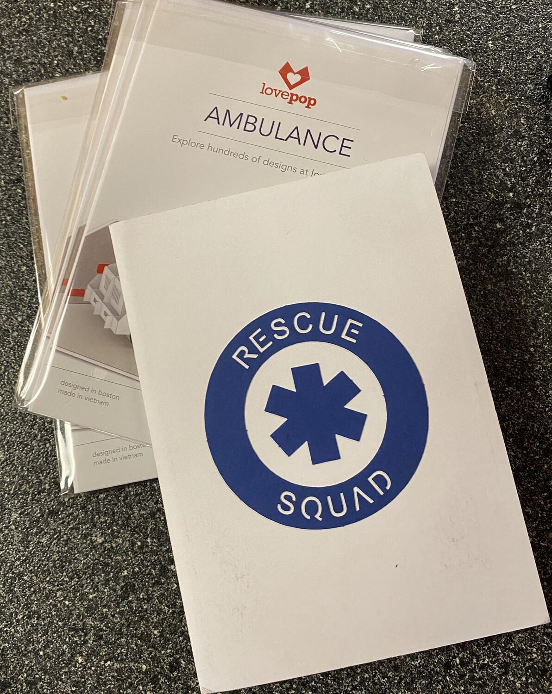 Lovepop Card Ambulance