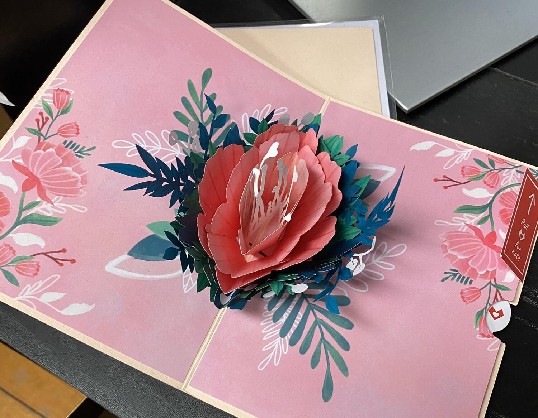 Lovepop Card Garden Rose Bloom