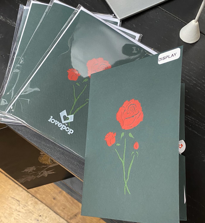 Lovepop Card Red Rose Bloom
