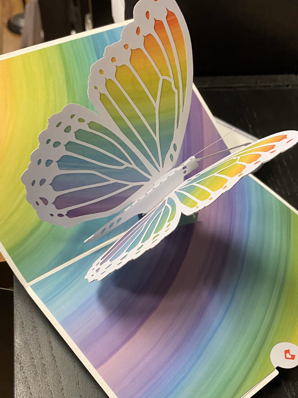 Lovepop Card Rainbow Butterfly