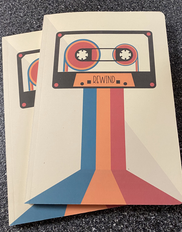 Retro Memory Journal Cassette Rewind