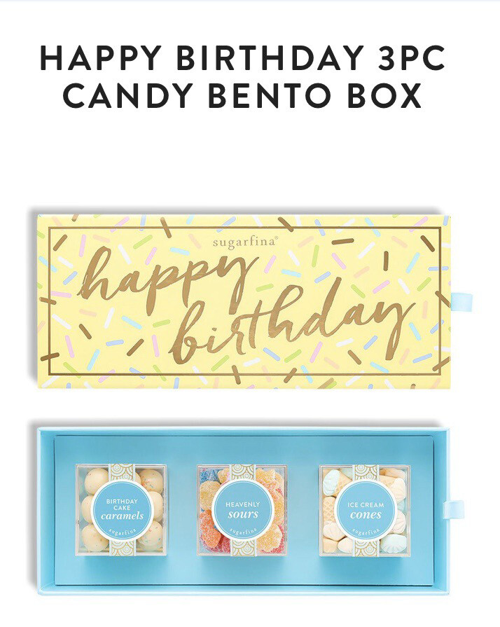 Sugarfina Birthday 3 Peace Candy Bento Box