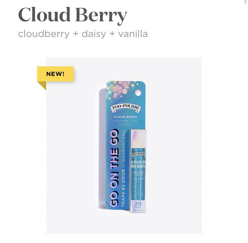Poo Pourri Go On The Go Cloud Berry