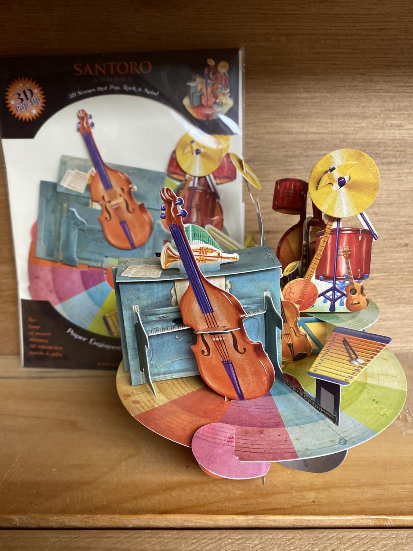 Band Ensemble 3-D Card Blank