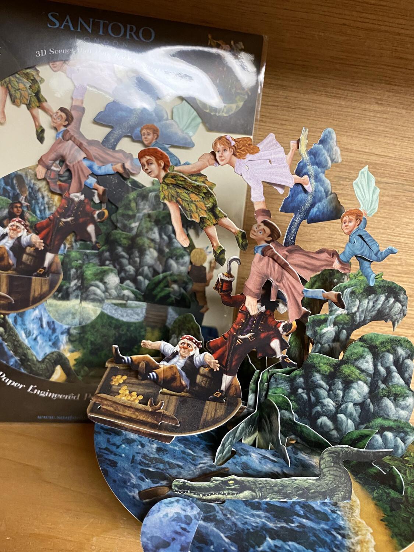 Peter Pan World 3 D Card Blank