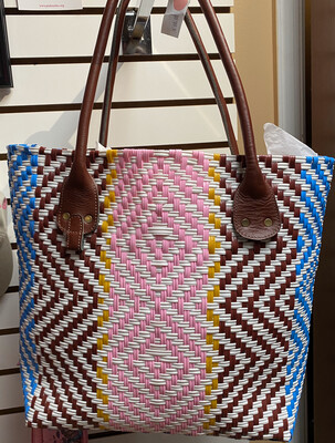 Fair Trade Repurposed Plastic Tote Great Beach Carry All