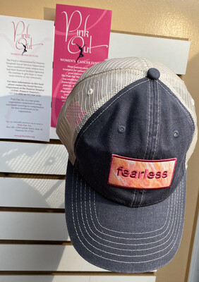 Fearless Trucker Denim Cap 20% Donated To Pink Out