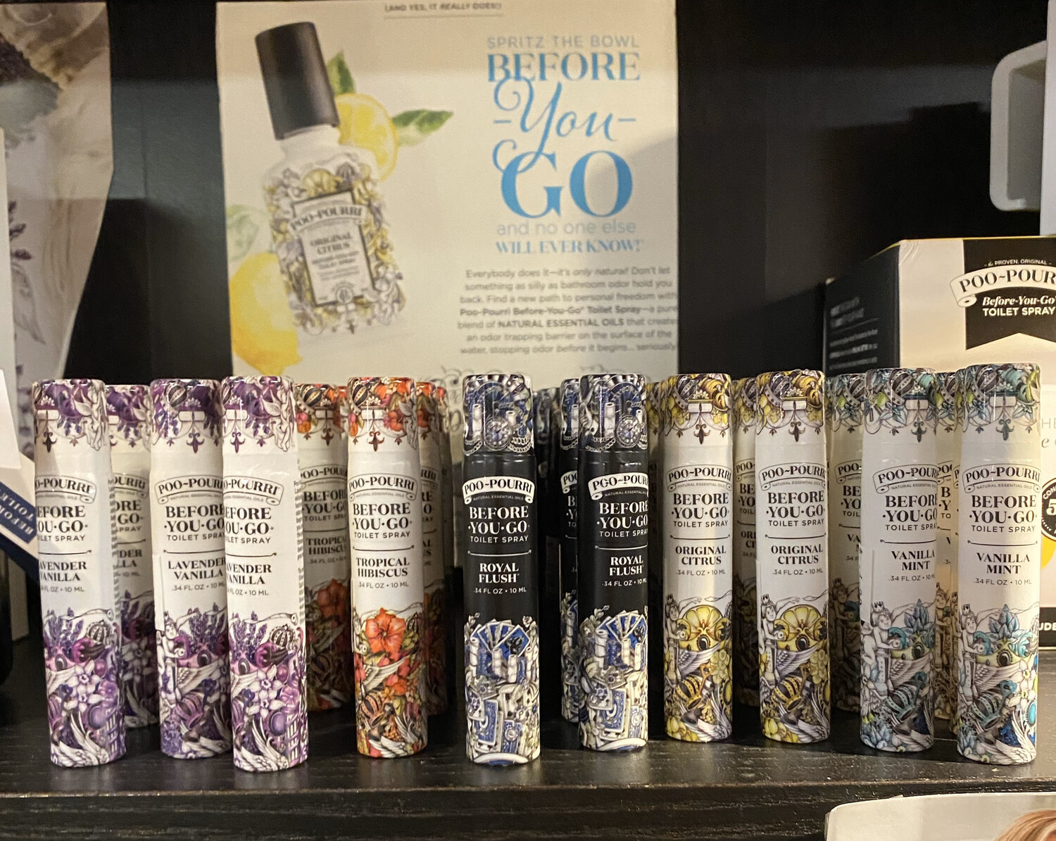 Poo Pourri Go On The Go 20 Uses Tap For Variety
