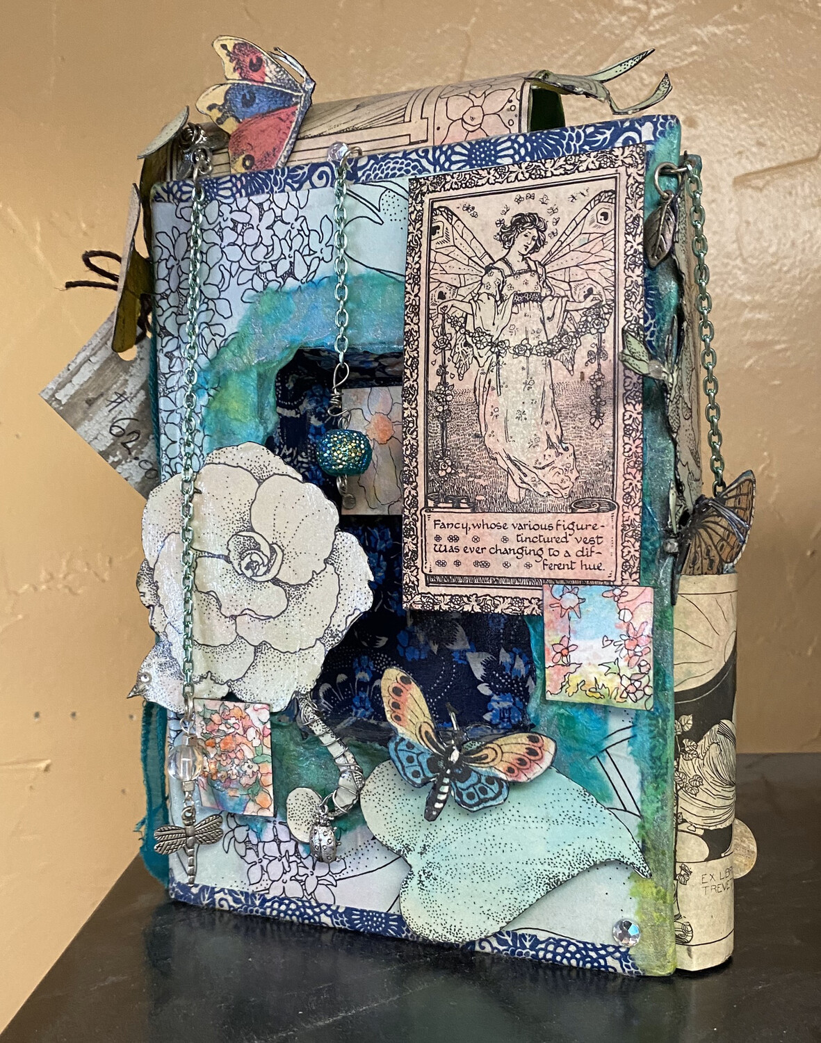 Ask Alice Adorned Book. Hand Made One Of A Kind.