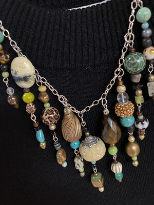 Ask Alice Studios Hand Made. One Of A Kind Necklace
