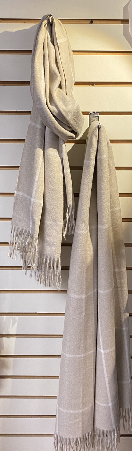 Major Deal Pia This XL Thin Soft Lines Scarf. 3 Color Ways.