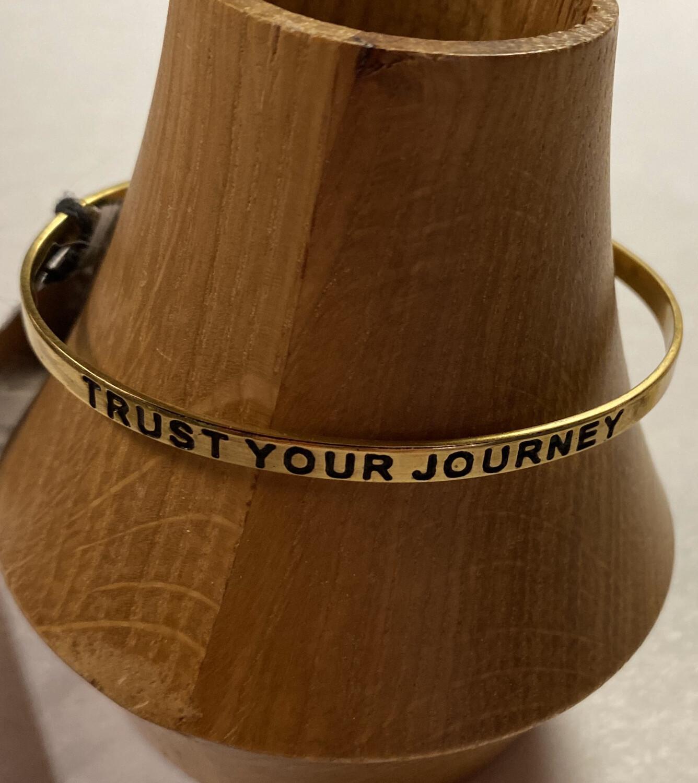 "Fair Brass Cuff ""Trust Your Journey"""