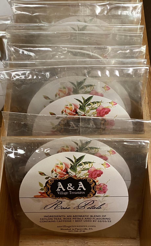 A&A Organic Tea Rose Petals Singles Organic Teas