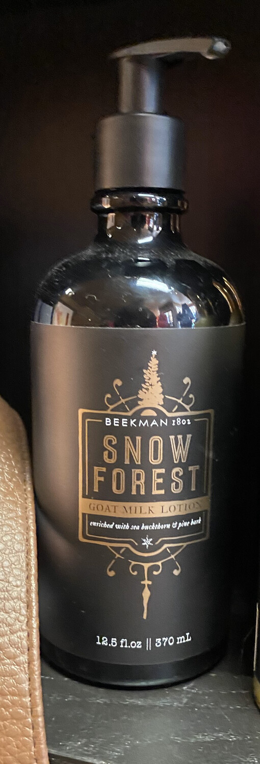 Beekman Snow Forest Lotion. Enriched with Buckthorn And Pine Bark