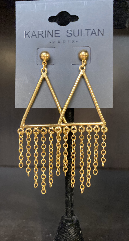 K Sultan Drop Chain Earrings