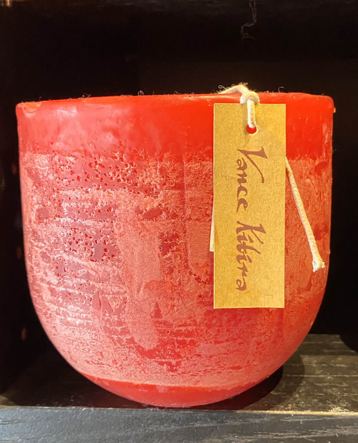 Vance Kitira Vessel Candle Medium Red Recyclable