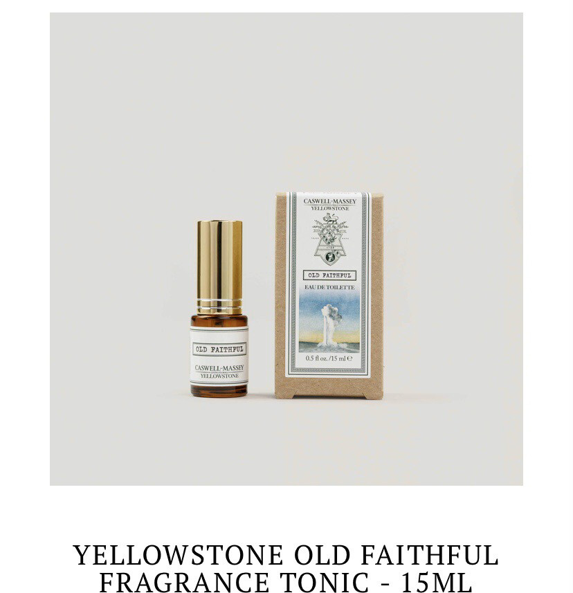 "Caswell Massey Yellowstone Inspired Cologne ""Old Faithful"""