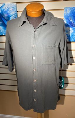Oh My Gauze Men's Short Sleeve Shirt Graphite Size 1. S/M