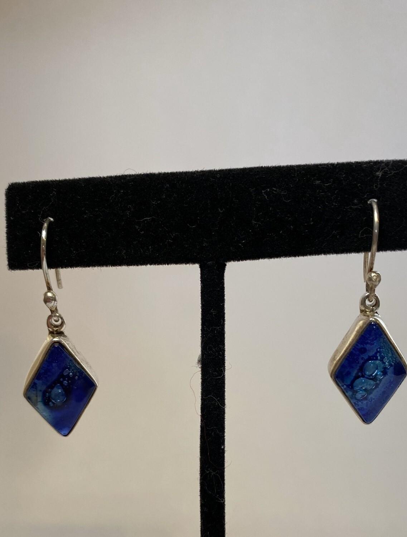 Sterling Silver Ocean Blue Triangular