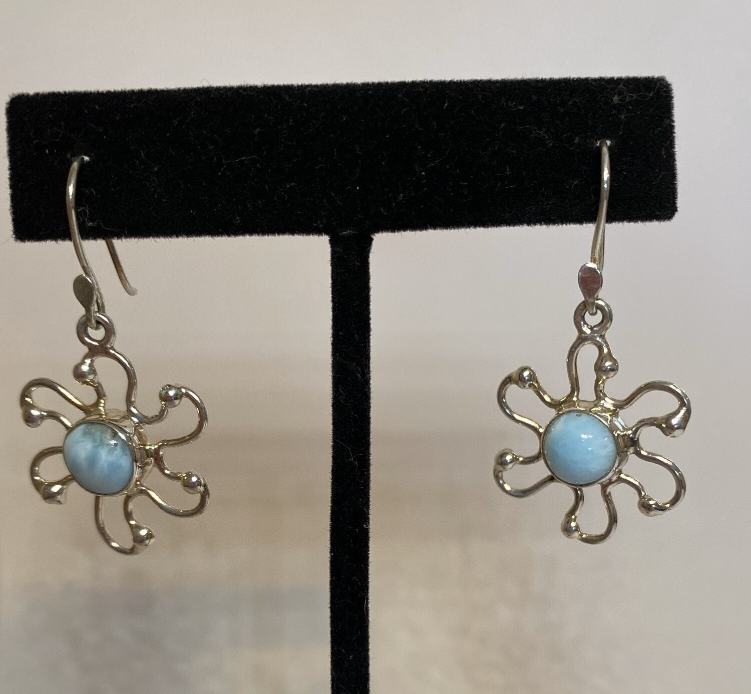 Sterling Silver Turquoise Daisy Earring