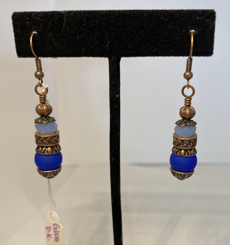 DK Copper Blue Baby Blue Earrings