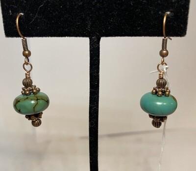 DK Veined Turquoise Earring