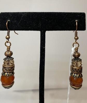DK Carnelian Copper Earring