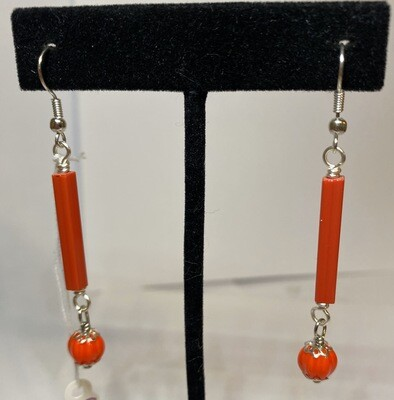 DK Red Glass Sticks With Red Glass Bead