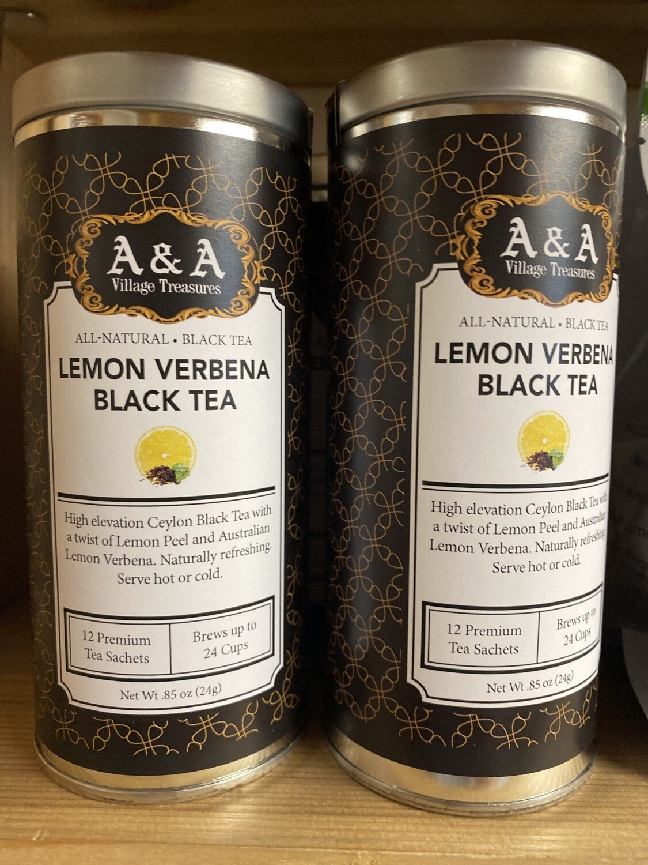 A&A Organic Tea Lemon Verbena Black 12 Sachets Making 2 To 3 Cups Each