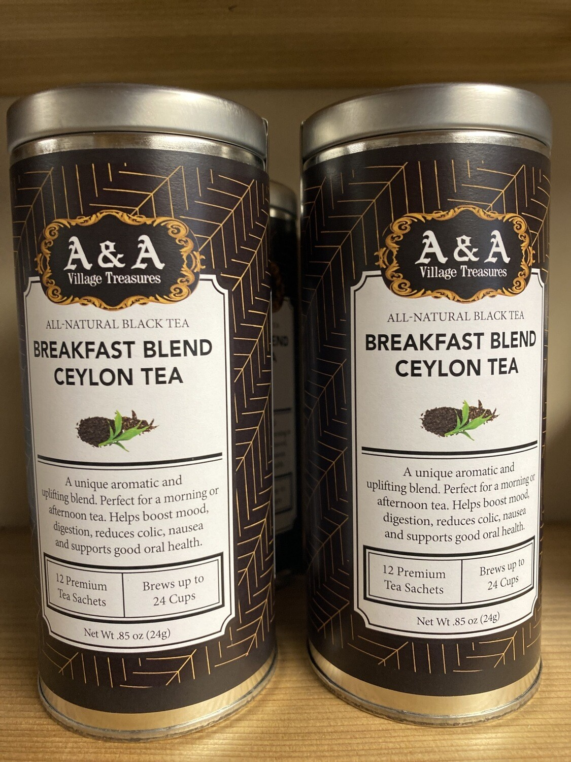 A&A Organic Tea Breakfast Blend Ceylon 12 Sachets Making 2 To 3 Cups Each