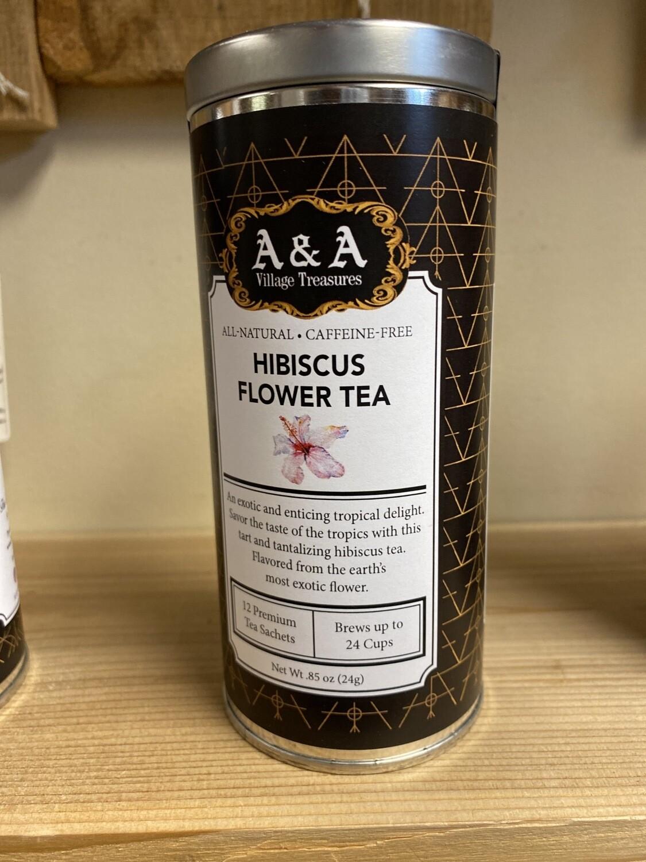 A&A Organic Tea Hibiscus Flower 12 Sachets Each Making 2 To 3 Cups Each