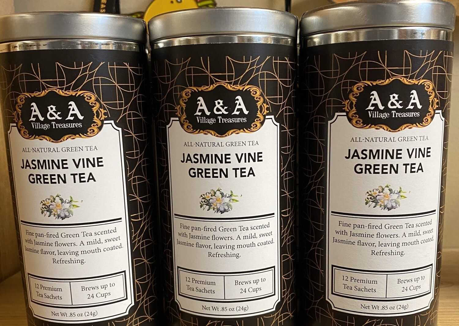 A&A Organic Tea Jasmine Vine Green 12 Sachets Making 2 To 3 Cups Each