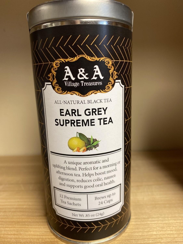 A&A Organic Tea Earl Grey Supreme 12 Sachets Making 2 To 3 Cups Each