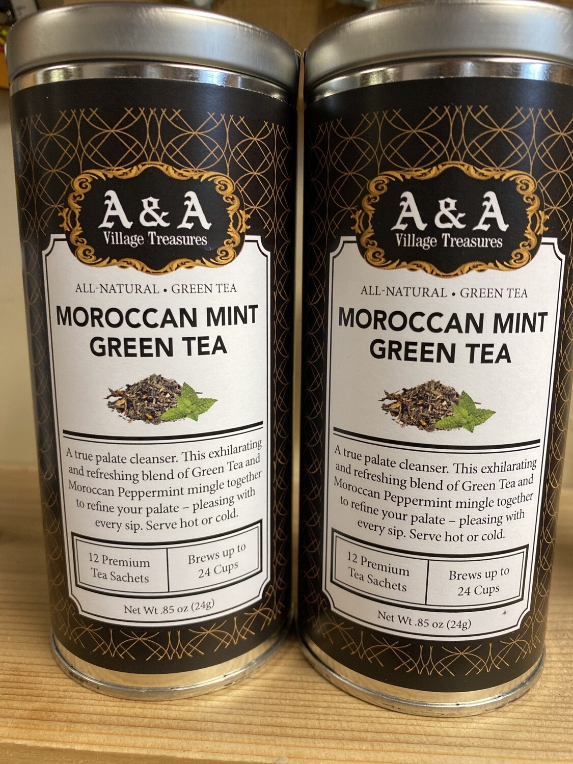 A&A Organic Tea Moroccan Mint Green 12 Sachets Making 2 To 3 Cups Each