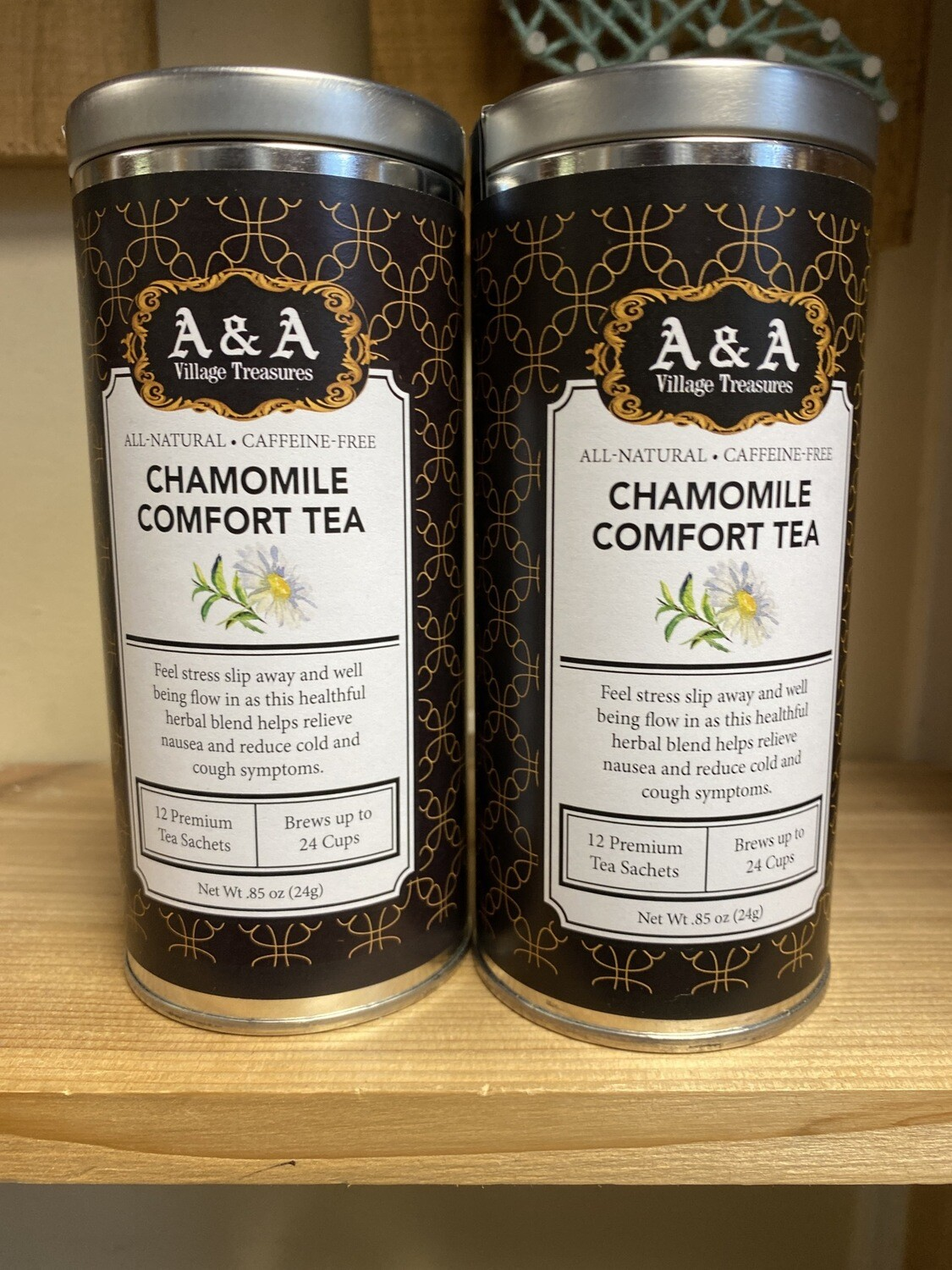 A&A Tea Organic Chamomile Comfort 12 Sachets Making 2 To 3 Cups Each