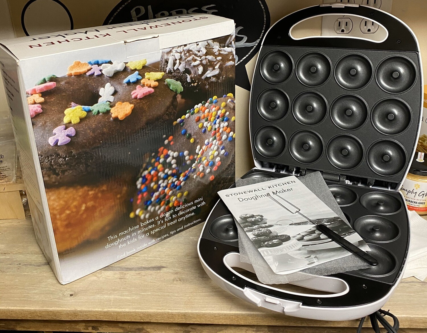 Stonewall Kitchen Donut  Maker Can Be Used With There Pancake Or Donut Mixes