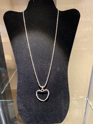 Carlee #iC Sterling Silver Long Ball Chain Necklace