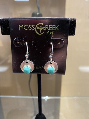 Carlee Sterling Silver Turquoise Drop # X 5