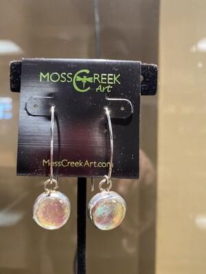 Carlee Sterling Silver Hook Drop Hand Blown Glass Earrings