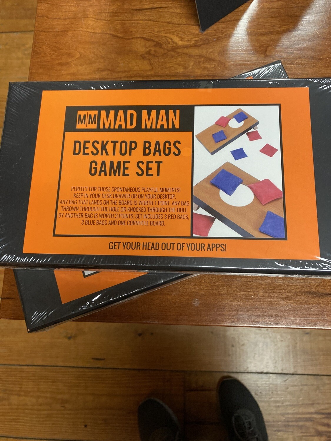 Mad Man Desk Top Corn Hole Wood Game Set